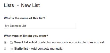 list options