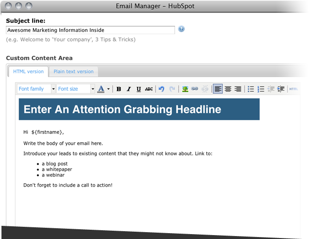 email manager prod page