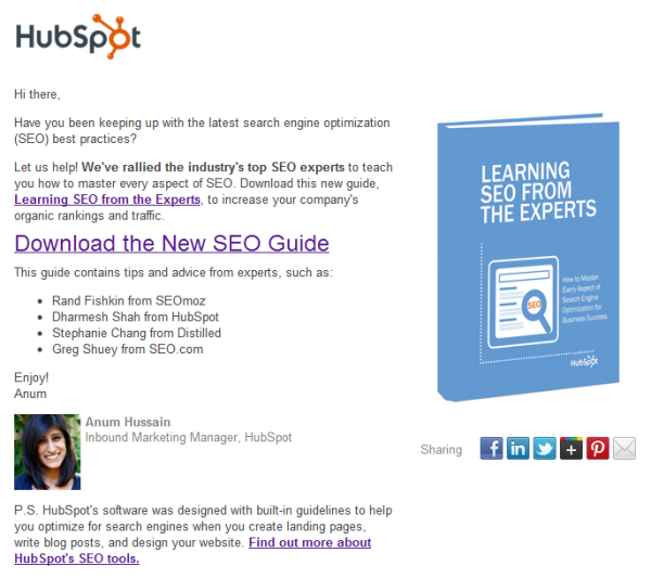 how to send emails on hubspot