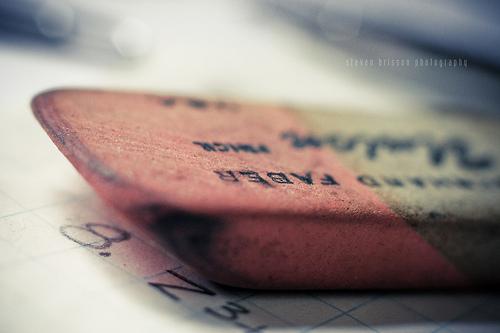 eraser to fix mistakes