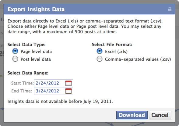 export insights data