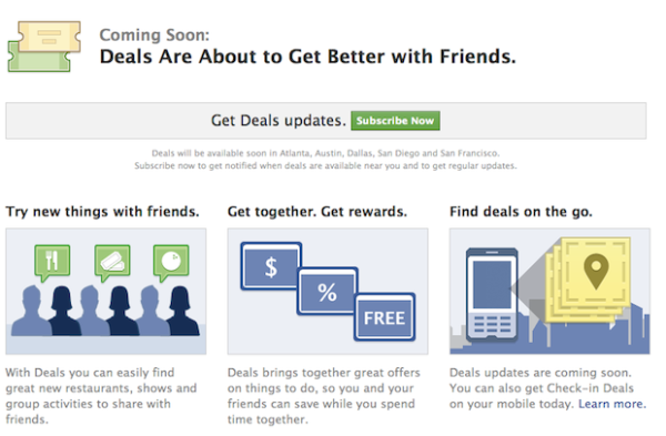 Facebook Deals Unveiled, Goes Head-on with Groupon
