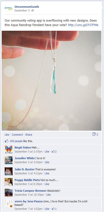 facebook feedback uncommongoods