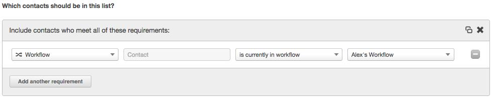 workflow list