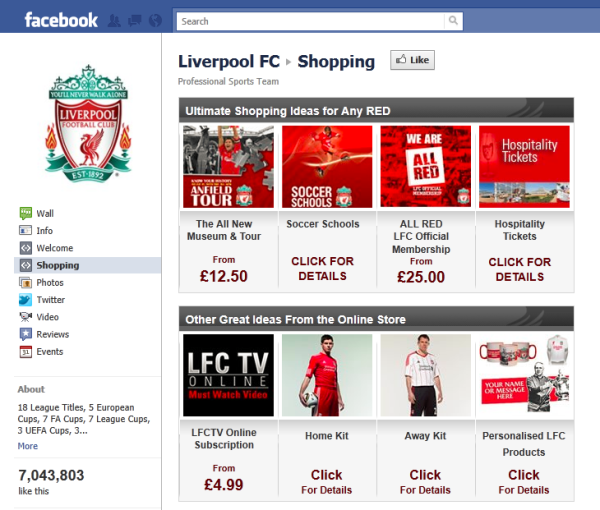 Liverpool FC Facebook