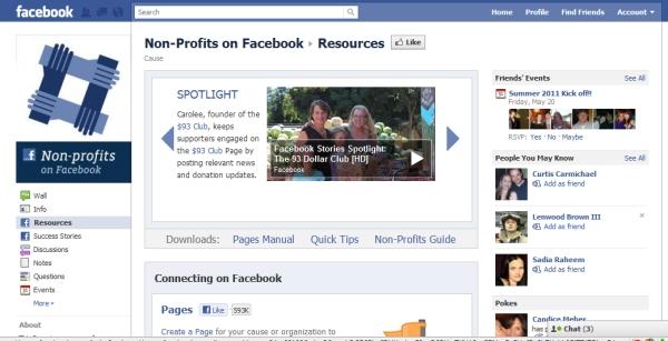 facebook nonprofit resource center