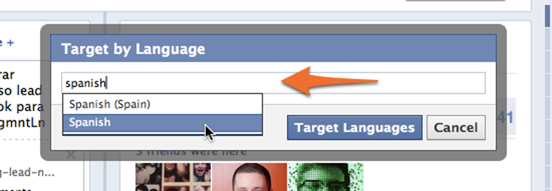 facebook05 target by language
