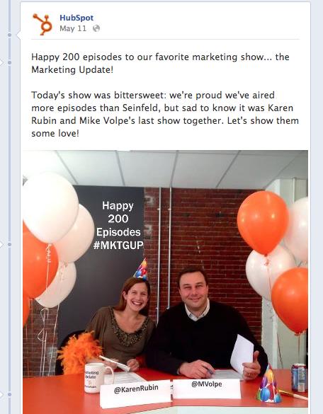 HubSpot on Facebook
