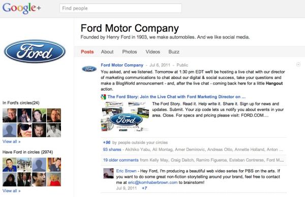 Ford Google+