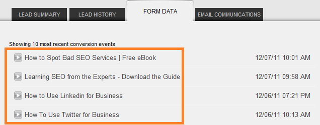 form data