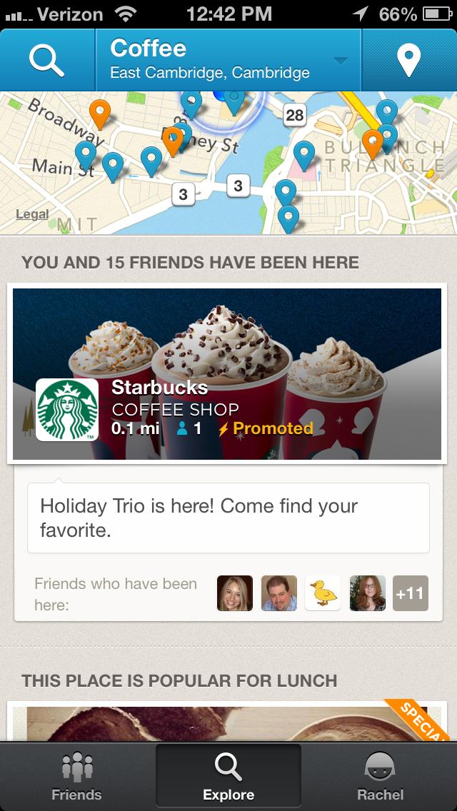 foursquare promoted deals