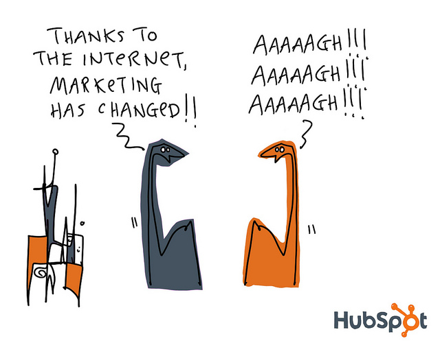gapingvoid inbound marketing dinosaurs