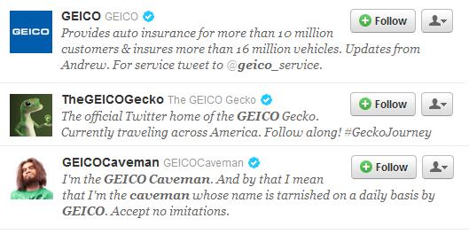 geico gecko twitter account