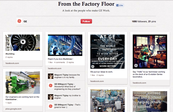 General Electric's Pinterest