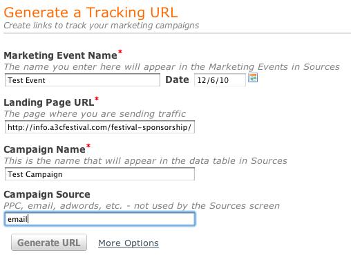 generate tracking url