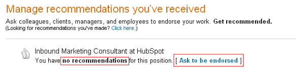 getting linkedin recommendations