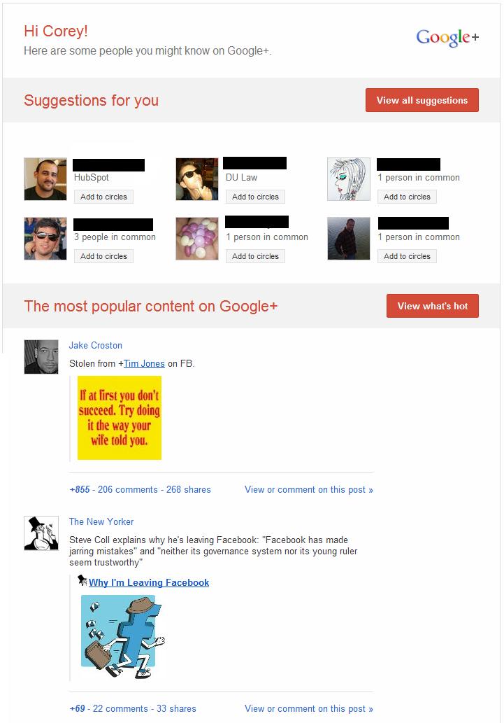 google  email digest