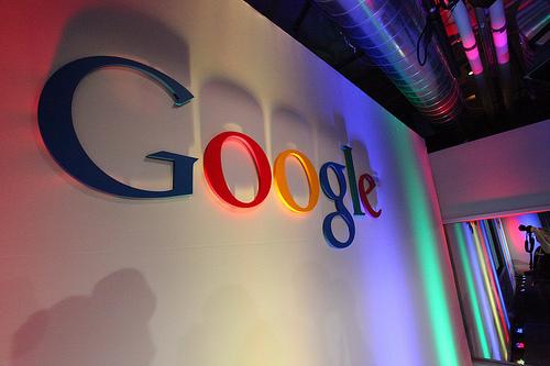 google wall sign