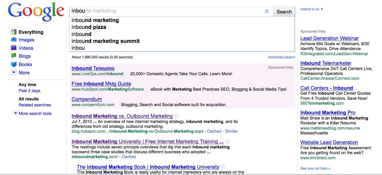 10 Almost Instant Responses to Your Google Instant Questions