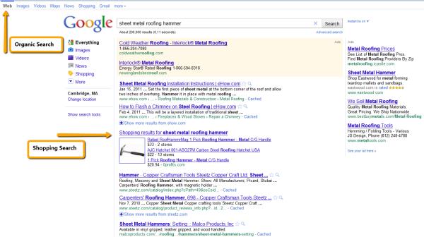Google Organic Search Example