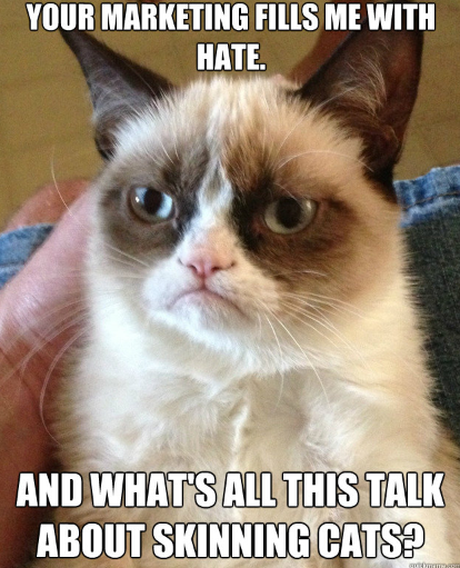 grumpy cat hates marketing