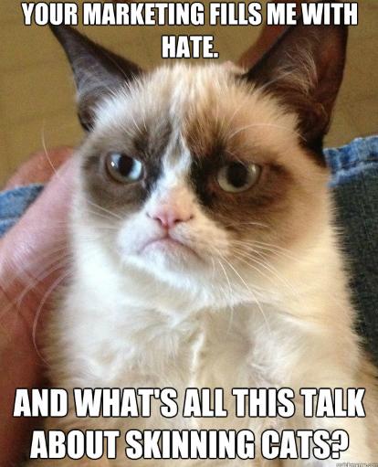 grumpy cat hates marketing