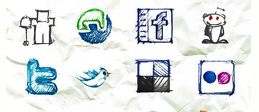 hand sketched icon set