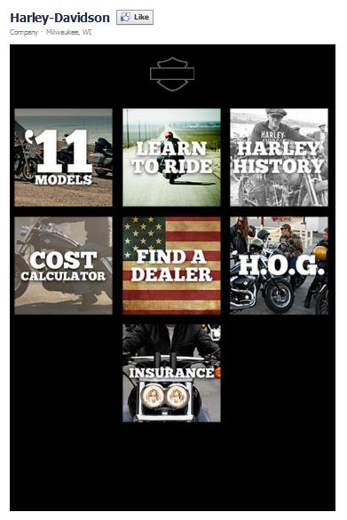 Harley Davidson Facebook Fan Page