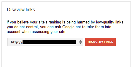 how to disavow links