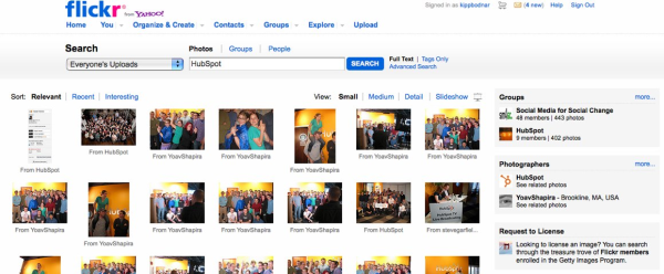 HubSpot   Flickr  Search resized 600