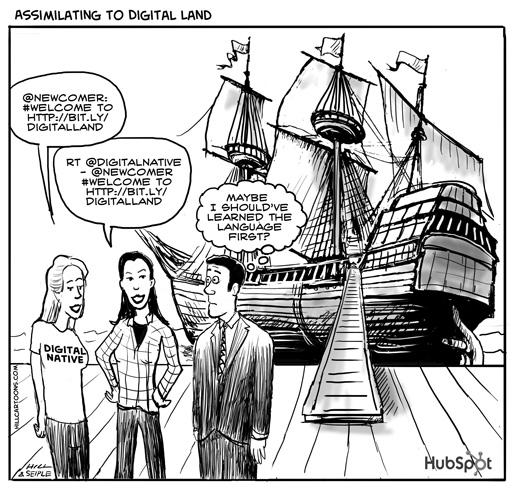 Digital Native Cartoon