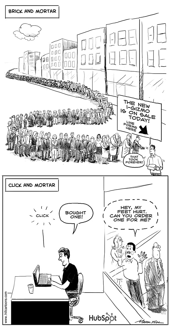 ecommerce cartoon