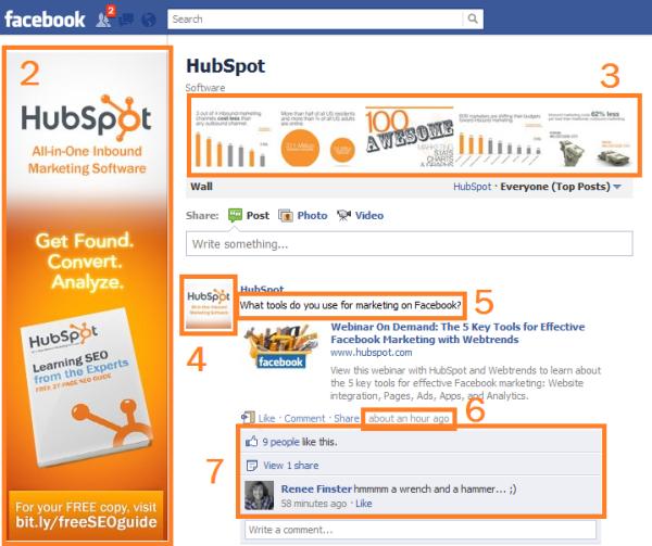 hubspot facebook page