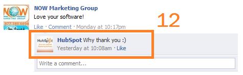hubspot facebook response