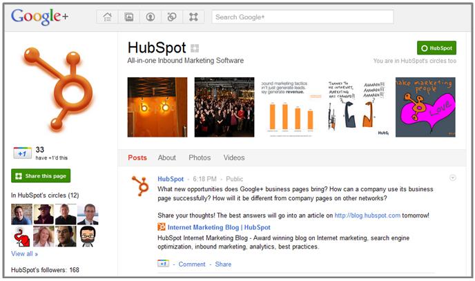 HubSpot Google Page