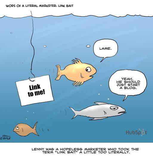 hubspot link bait cartoon