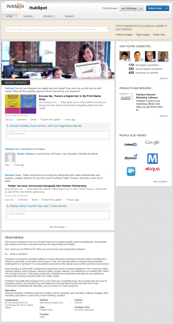 hubspot linkedin company pages resized 600
