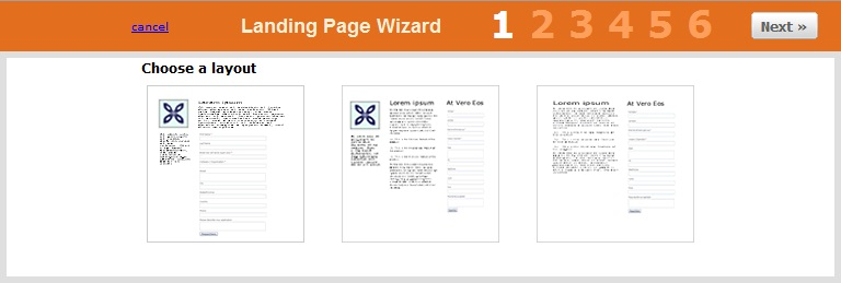 hubspot landing page wizard