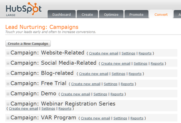 HubSpot Lead Nurturing Campaign Examples