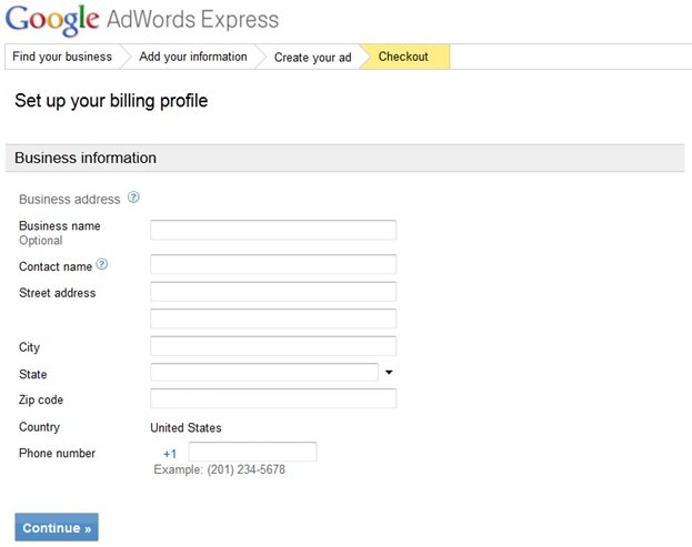 Google Adwords Express Step 4