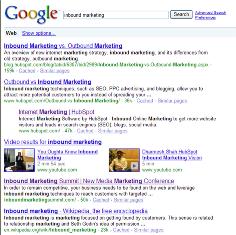 Inbound Marketing Universal Search