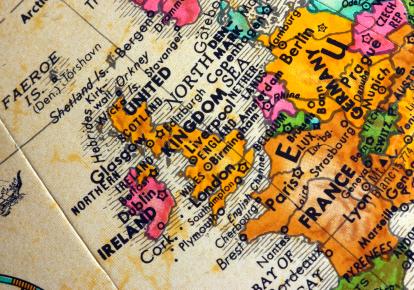 UK on the globe