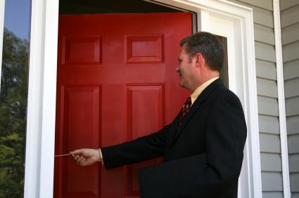 door to door salesman