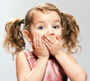 shocked little girl