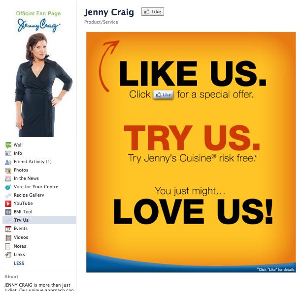Jenny Craig Before the Like