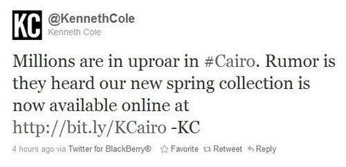 kenneth cole tweet