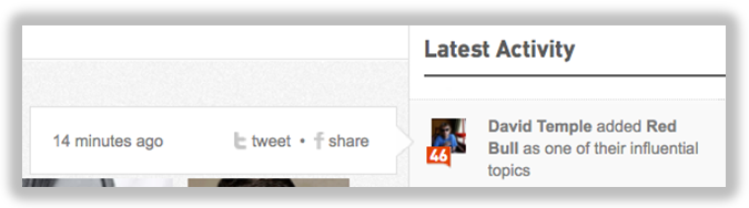 klout latest activity
