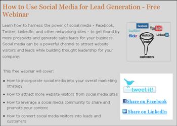 Landing Page Social Media