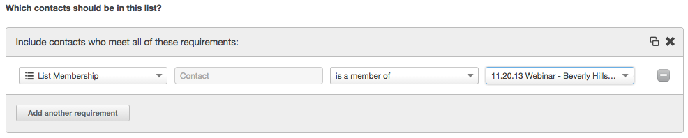 list membership options