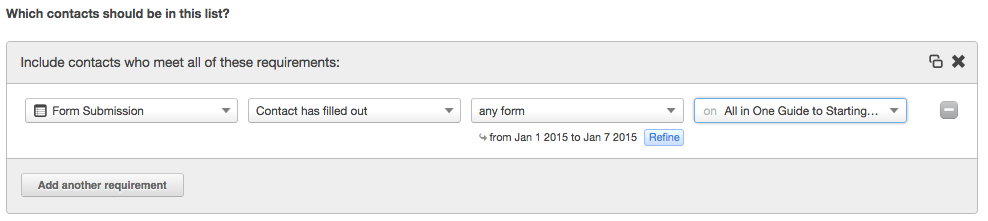 form list specifics